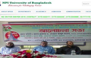 N.P.I University of Bangladesh